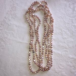 Pearl neck lace strand Long
